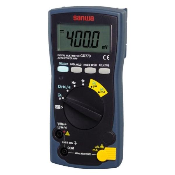 三和電気計器/SANWA デジタルマルチメータ コンデンサ容量/周波数測定対応 CD-770