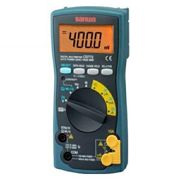 【送料無料】三和電気計器/SANWA デジタルマルチメータ True RMS/温度測定対応 CD-772