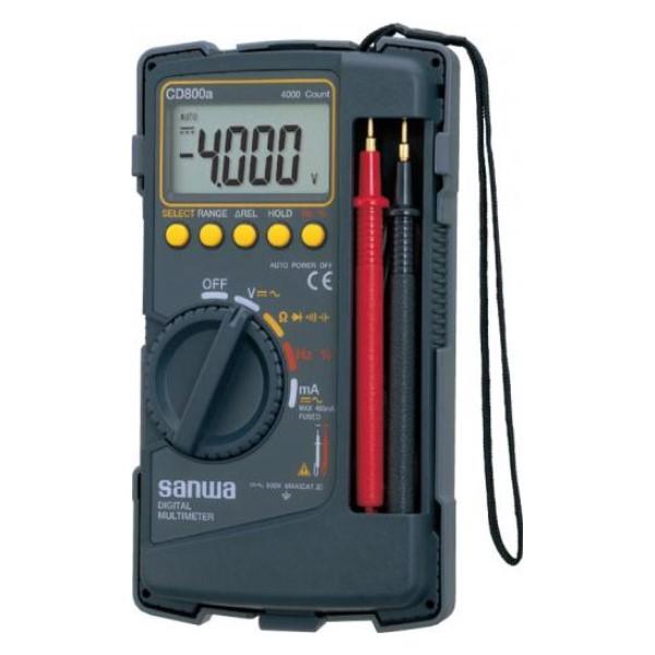 【送料無料】三和電気計器/SANWA デジタルマルチメータ ケース一体型 CD-800A