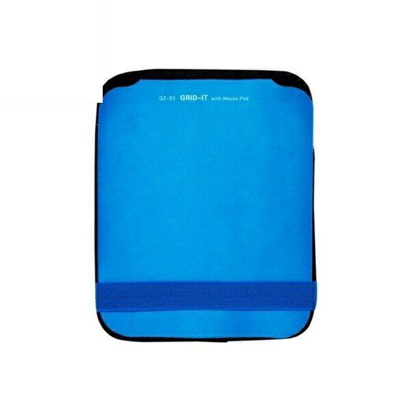 【送料無料】ミヨシ 収納バンド付マウスパッド ブルー GRID-IT GZ-03/BL 小物 ガジェット 収納 パッド
