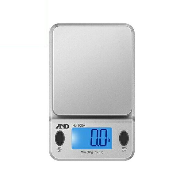 【送料無料】エー・アンド・デイ コンパクトスケール 0.2g-300g 保護カバー/分銅付 HJ-300A-JA はかり スケーラー 測定 計測器具 A&D