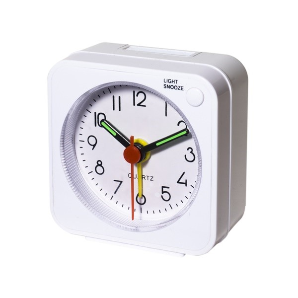 【送料無料】ミヨシ トラベルミニクロック 小型・軽量目覚まし時計 ホワイト 旅人専科 MBZ-CLK01/WH 旅行用品 トラベルグッズ