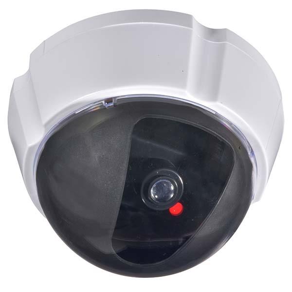 OHM ダミーカメラUFO 常時点滅型 防犯ステッカー付き OSE-P-DD2