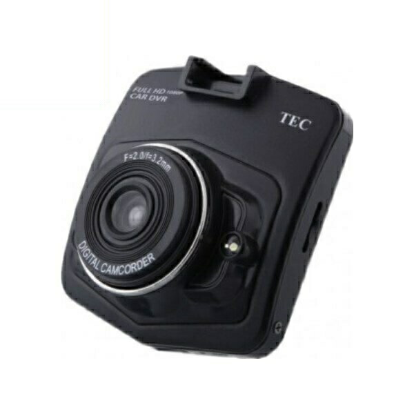 テック 1080pフルHD対応 ドライブレコーダー 2.4型液晶搭載 TECDVRFHD-001
