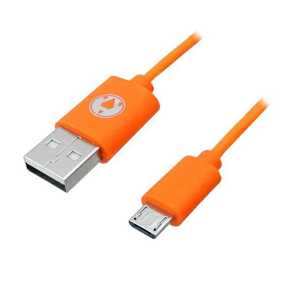 3Aカンパニー microUSB充電ケーブル 1m オレンジ PC・スマホ・タブレット対応 3A-MUSB10OR 【返品保証】