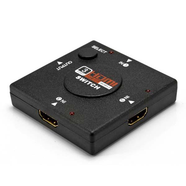 【メール便送料無料】HDMIセレクター HDMI3ポート 3入力1出力 電源不要 HDMI切替器 AVセレクター ブルーレイ/ゲーム/PS4/PS3/Switch/テレビ対応 ブラック DT-HDMIS1