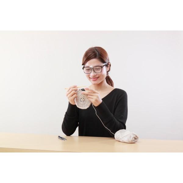 【送料無料】ケンコー メガネ拡大鏡 ブラック 両手が使えるメガネ拡大鏡2 倍率1.6倍 KTL-9207BK