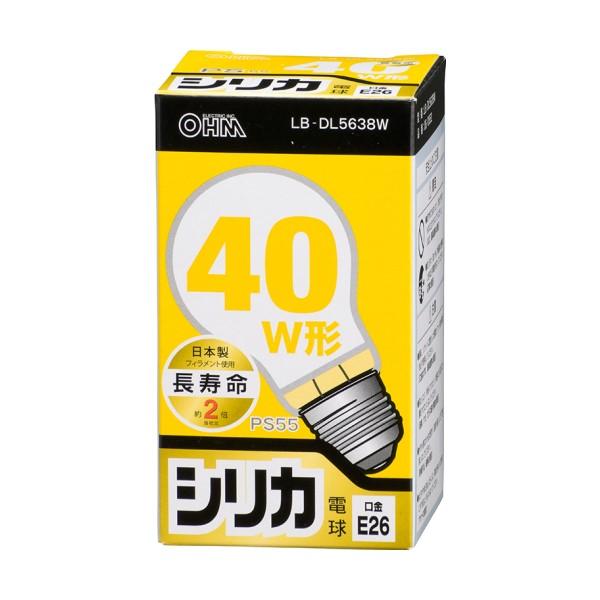 OHM 白熱電球 長寿命タイプ 40W形 ホワイト E26 06-0552 LB-DL5638W