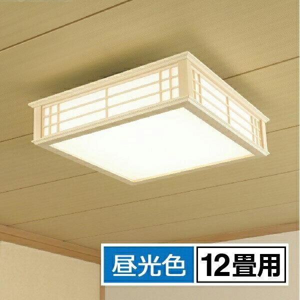 【ポイント5倍】【送料無料】OHM LED和風シーリングライト 12畳用 昼光色 リモコン付 天然木使用 LE-W50DBK-K