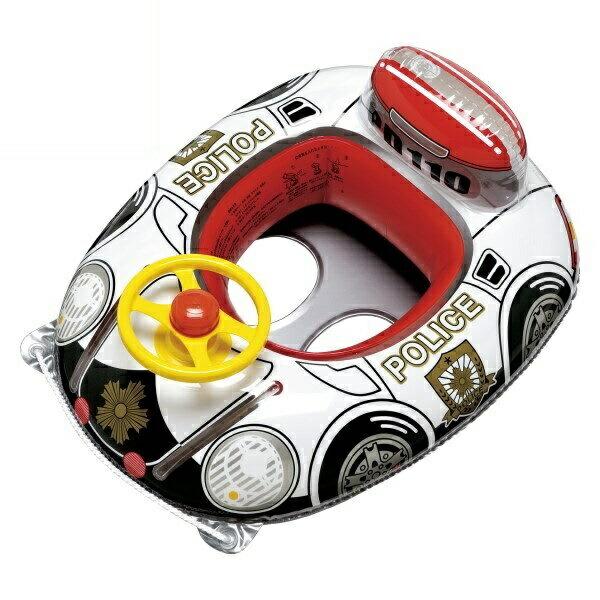 【送料無料】ハンドル付ベビーボート 座付ウキワ 男の子用 スーパーパトカー イガラシ MHR-460 浮き輪 フロート ボート かわいい おしゃれ インスタ 海 川 プール レジャー