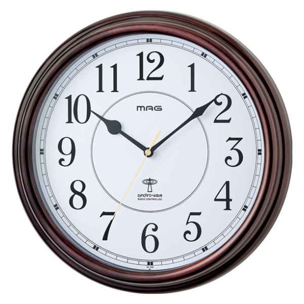 ノア精密 MAG 電波掛け時計 「キサラギ」 W-700-BR-Z