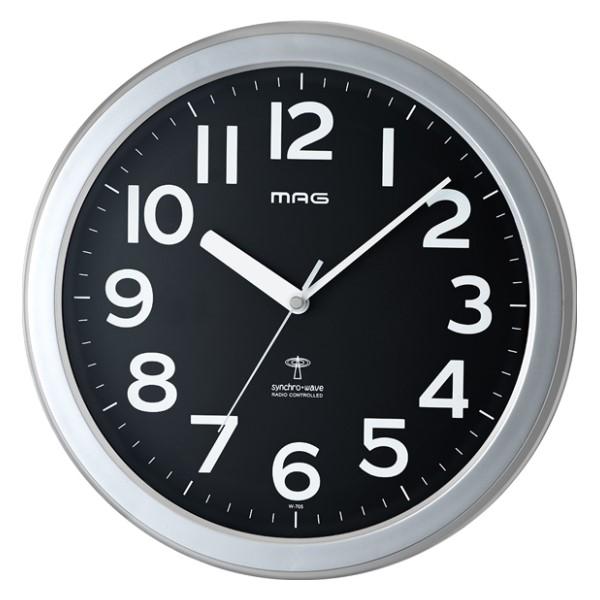 ノア精密 MAG 電波掛け時計 「ロズベルグ」 W-705-SM-Z