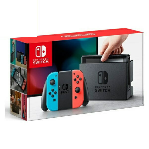 【送料無料】任天堂 Nintendo Switch/ニンテンドースイッチ Joy-Con ネオンブルー/ネオンレッド 新品 HAC-S-KABAA 【お一人様一台限り】