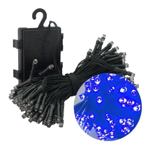 【年中無休】【送料無料】イルミネーションLEDライト ブルー 100球 全長10m 防滴 クリスマスツリー用 単3電池4本付 HAC1437-BL デコレーション イルミネーション LED ライト 【お買い得カラー】