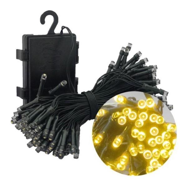 【年中無休】【送料無料】イルミネーションLEDライト ゴールド 100球 全長10m 防滴 クリスマスツリー用 単3電池4本付 HAC1437-GD デコレーション イルミネーション LED ライト
