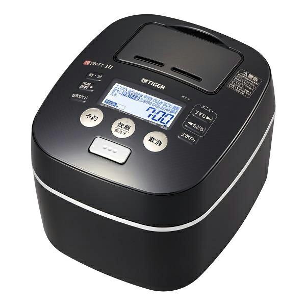 タイガー 土鍋圧力IH炊飯ジャー 炊きたて 5.5合炊き ブラック JKX-V102-K 【送料無料】