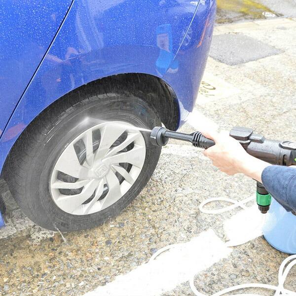 【送料無料】サンコー 充電式タンクレス高圧洗浄機 強力ウォーターガン PBCARWAS タンク不要 軽量 ポータブル 洗浄機