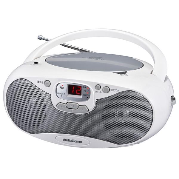 AudioComm CDラジオプレーヤー AM/FM対応 シルバー RCR-530N-S