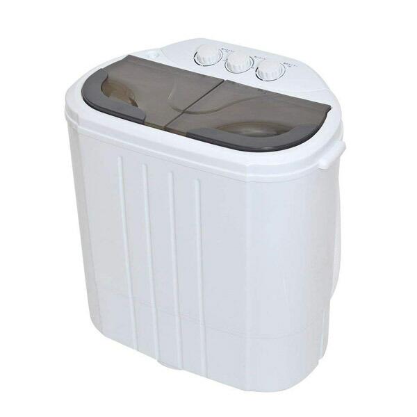 【送料無料】サンコー 小型 二槽式洗濯機 別洗いしま専科2 ミニ洗濯機 RCWASHR4 介護 育児 ペット 一人用 洗濯機