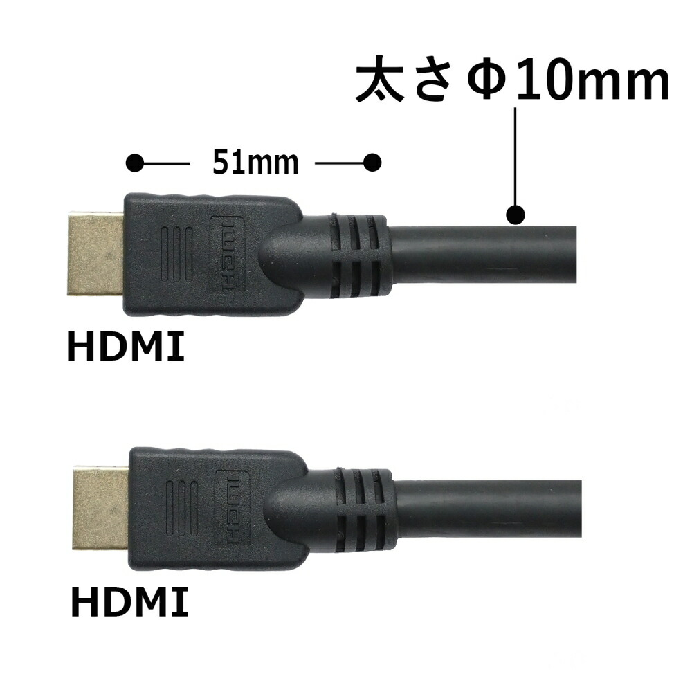 【送料無料】高品質 HDMIケーブル 20m イーサネット・4K・3D対応 動作・品質保証 3Aカンパニー AVC-HDMI200HI 【返品保証】 プロジェクター・店舗・イベント・展示会・業務用