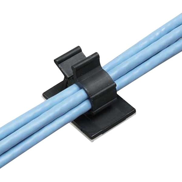 ミヨシ ケーブルクランプ 小 6個 ブラック ケーブル収納 CM-CHSBK