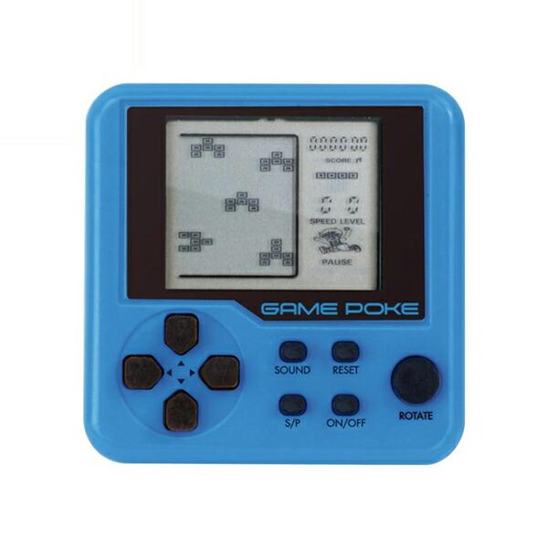 【メール便送料無料】ゲームポケスクエア 26種のゲーム内蔵 ブルー HAC1443-BL ポータブルゲーム ポケットゲーム 携帯ゲーム機