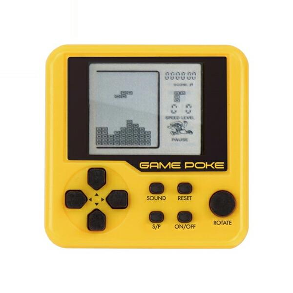 【メール便送料無料】ゲームポケスクエア 26種のゲーム内蔵 イエロー HAC1443-YL ポータブルゲーム ポケットゲーム 携帯ゲーム機