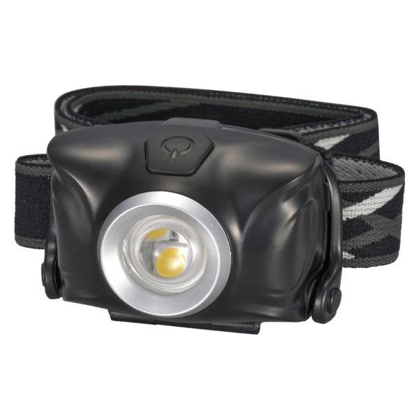 OHM リュックバンド付 LEDヘッドライト 防水仕様IPX4 100lm ブラック LC-SYW1-K