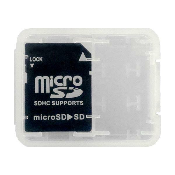 3Aカンパニー マイクロSD-SDカード変換アダプター ~32GB 収納ケース付 microSD-SD変換 MC-SDHC 【返品保証】
