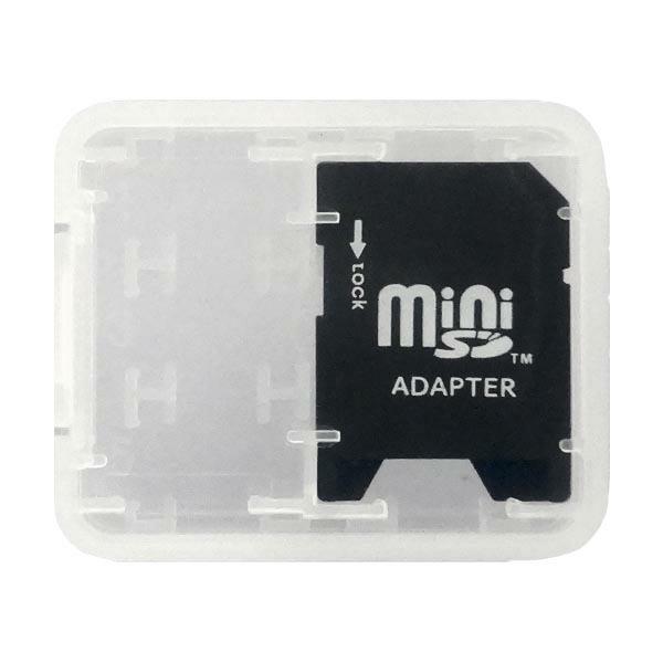 【メール便送料無料】miniSD-SDカード変換アダプター 2~32GBまで対応 収納ケース付 ミニSD-SD変換 3Aカンパニー MN-SDHC 【返品保証】 ※miniSDカード別売