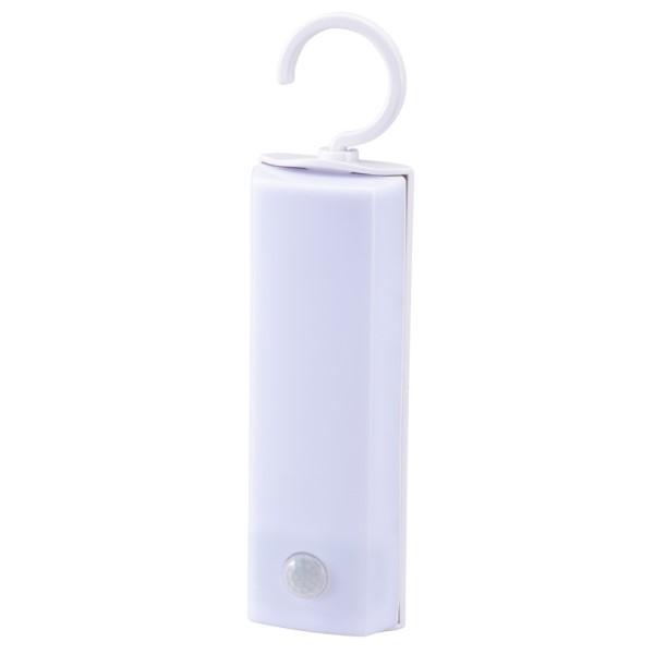 OHM ハンガー付キLEDセンサーライト 明暗+人感センサー付 昼白色 NIT-BLA6JF-WN