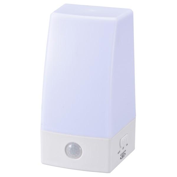 OHM LEDセンサーライト 明暗+人感センサー付 昼白色 NIT-BLA6JS-WN
