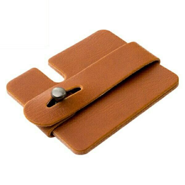ミヨシ カード型 コードホルダー ブラウン ヘッドホン・イヤホンコードリール AAC-IH02/BR