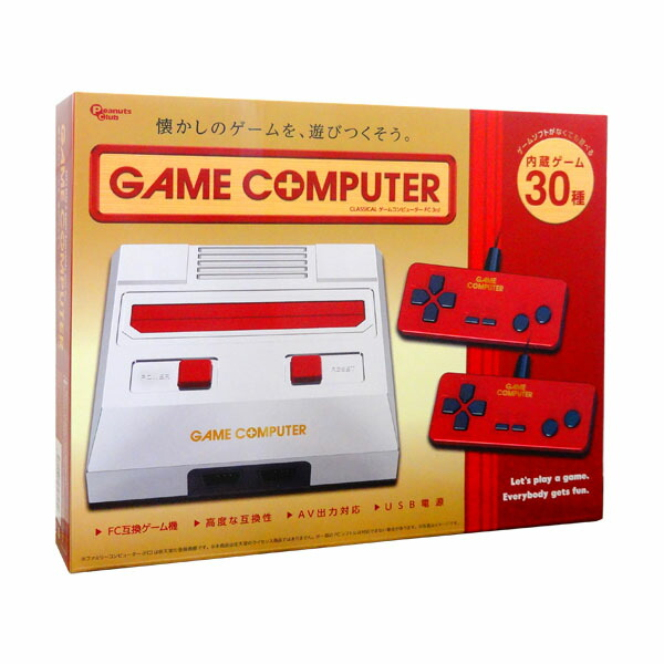 【2月限定特価】【送料無料】ゲームコンピューターFC CLASSICAL 3rd レッド ファミコン互換機 30ゲーム内蔵 AH9975AA-RD USB電源 モバイルバッテリー対応 小型 軽量 コンパクト