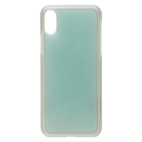 ミヨシ iPhone X用 デコレーションプレート付 ポリカーボネート製ハードケース スモークグレー IPC-PC01/GY