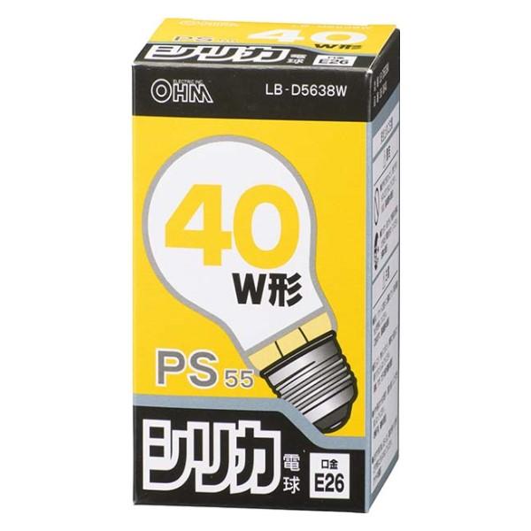 OHM 白熱電球 40W相当 ホワイト E26 LB-D5638W