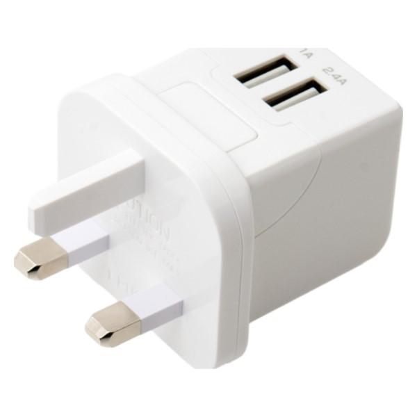 ミヨシ 海外/日本両対応 変換プラグ付USB-ACアダプタ BFタイプ MBP-TBF