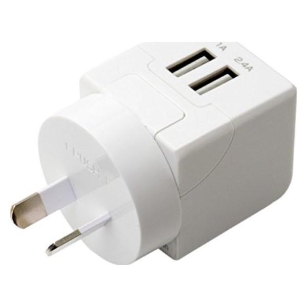 ミヨシ 海外/日本両対応 変換プラグ付USB-ACアダプタ Oタイプ MBP-TO