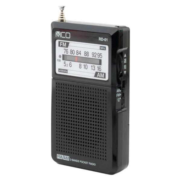 ミヨシ ワイドFM対応 ポケットラジオ ブラック RD-01/BK
