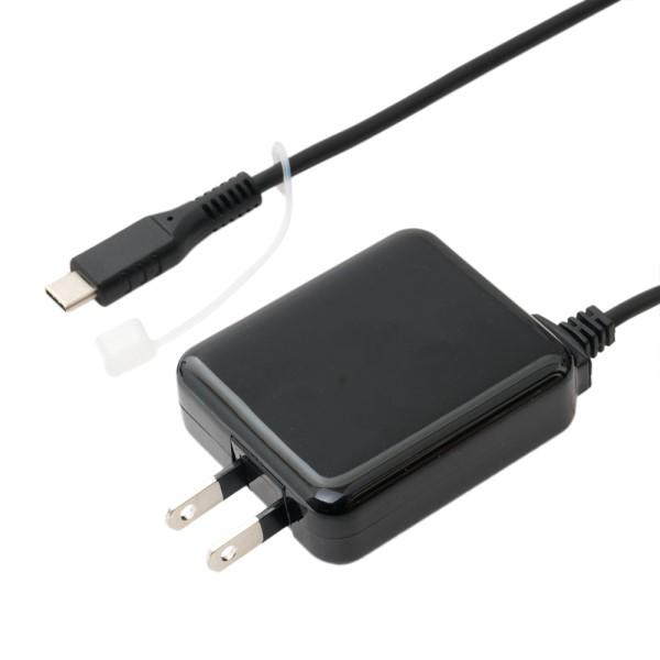 ミヨシ USB充電器 Type-Cケーブル一体型 3.5m 3A出力対応 ブラック 充電用ACアダプタ IPA-CC35BK
