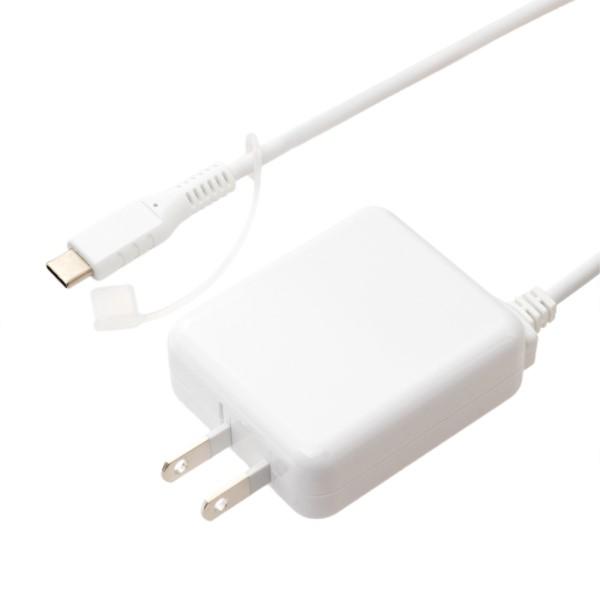 ミヨシ USB充電器 Type-Cケーブル一体型 3.5m 3A出力対応 ホワイト 充電用ACアダプタ IPA-CC35WH