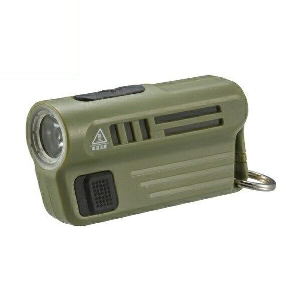 【送料無料】OHM LEDミニライト USB充電式 08-0300 LHA-MUSB300-G 懐中ライト ハンディライト 懐中電灯