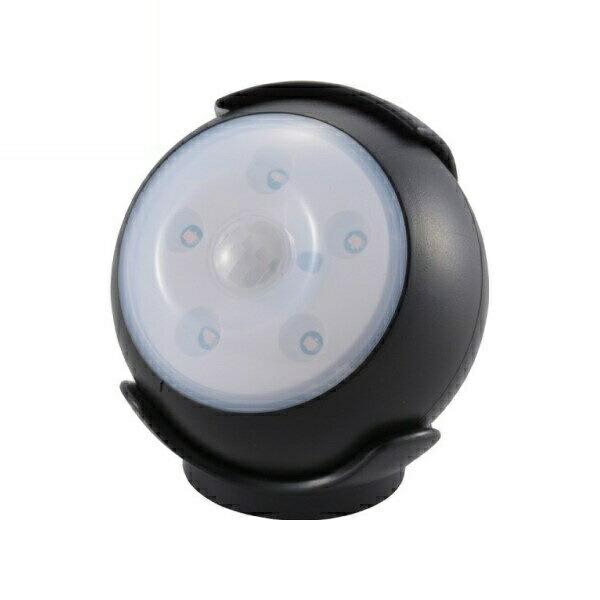 【送料無料】OHM LEDセンサーライト ブラック 屋内用 明暗+人感センサー付ライト 06-1631 LS-B15-K 防犯 セキュリティ ライト LED 電池式