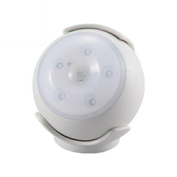 【送料無料】OHM LEDセンサーライト ホワイト 屋内用 明暗+人感センサー付ライト 06-1630 LS-B15-W 防犯 セキュリティ ライト LED 電池式