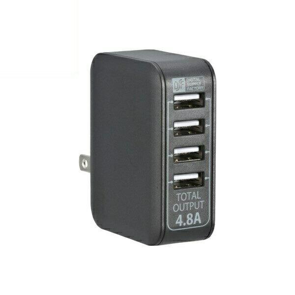 【送料無料】OHM USB-ACアダプター USB電源タップ 4ポート 4.8A ブラック 01-3746 MAV-AU48-K USB AC充電器 モバイル スマホ タブレット充電器 急速充電対応