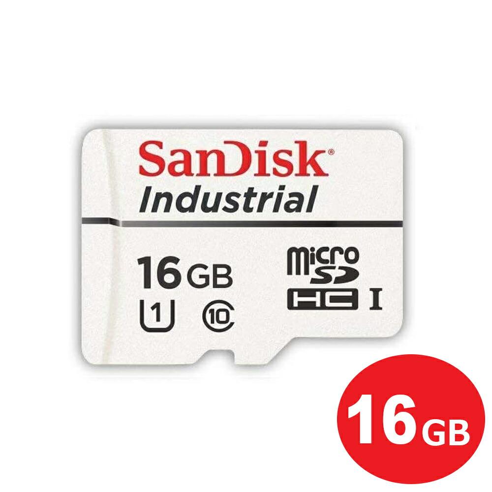 【メール便送料無料】サンディスク マイクロSDHCカード 16GB  Class10 UHS-I Industrial 高耐久 バルク microSDカード SDSDQAF-016G-I
