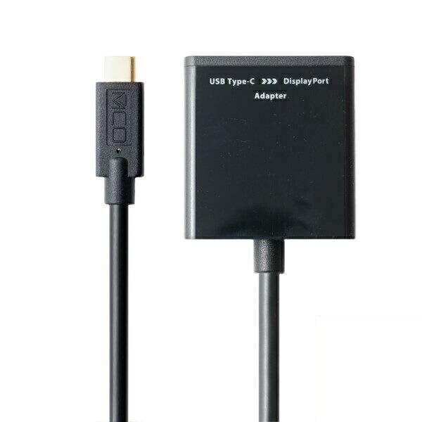 【メール便送料無料】ミヨシ 4K対応 Type-C変換アダプタ Type-C(プラグ)-DisplayPort(ジャック) ブラック USA-CDP01BK