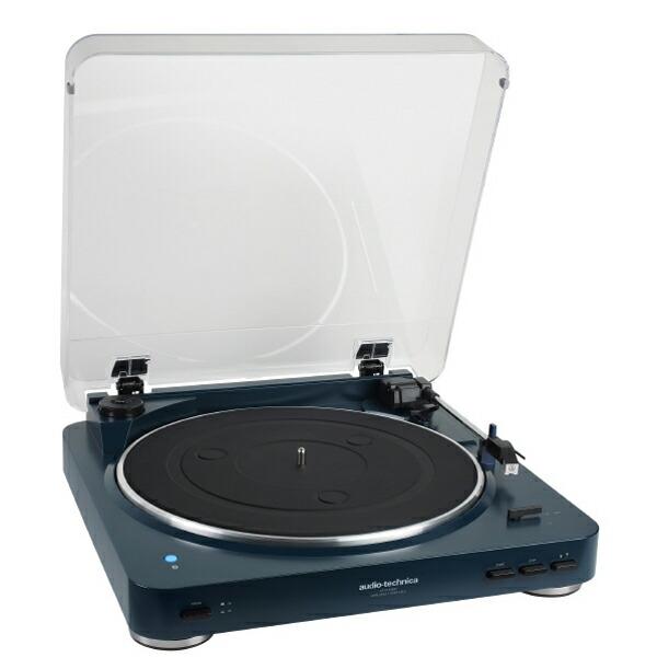 【送料無料】オーディオテクニカ ワイヤレスターンテーブル ネイビー Bluetooth対応レコードプレーヤー AT-PL300BTNV