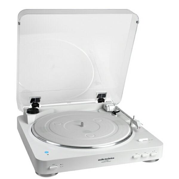 【送料無料】オーディオテクニカ ワイヤレスターンテーブル ホワイト Bluetooth対応レコードプレーヤー AT-PL300BTWH