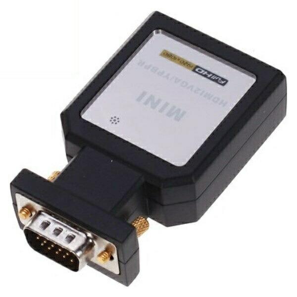 【送料無料】テック HDMI-VGA変換器 コンポーネント対応 HDCOM-001 HDMIをVGAに変換